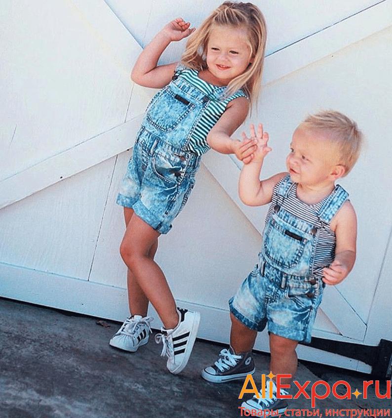 Детский джинсовый комбинезон-шорты Emmababy купить на Алиэкспресс