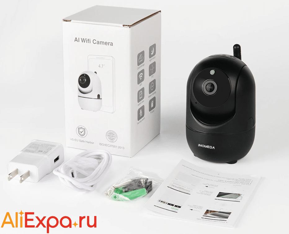 Беспроводная WiFi камера видеонаблюдения с датчиком движения и ночным видениемINQMEGA купить на Алиэкспресс