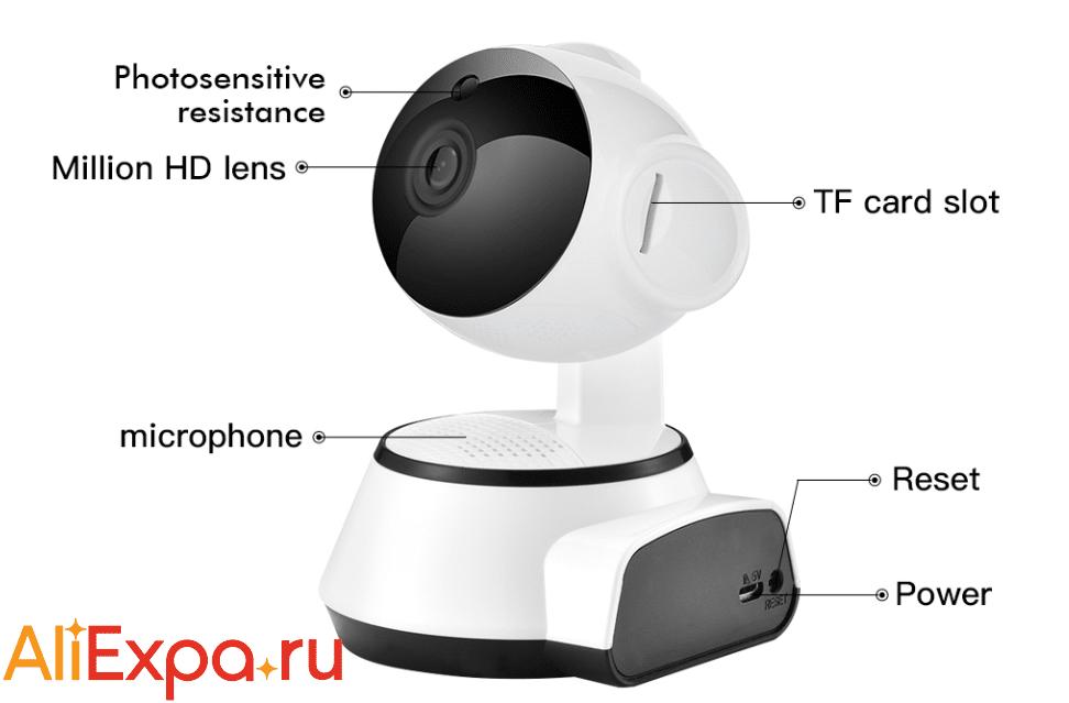Камера видеонаблюдения для дома с удаленным доступом и записью на карту SDETER купить на Алиэкспресс