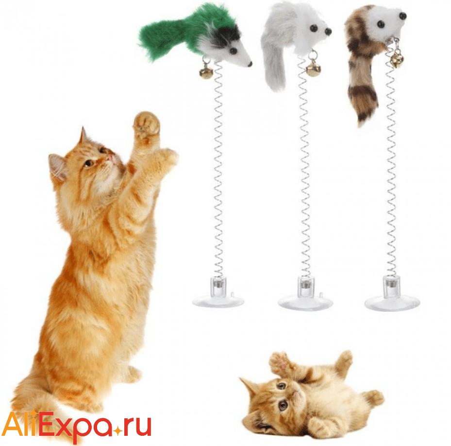 Игрушка для кошки на пружине VKTECH купить на Алиэкспресс