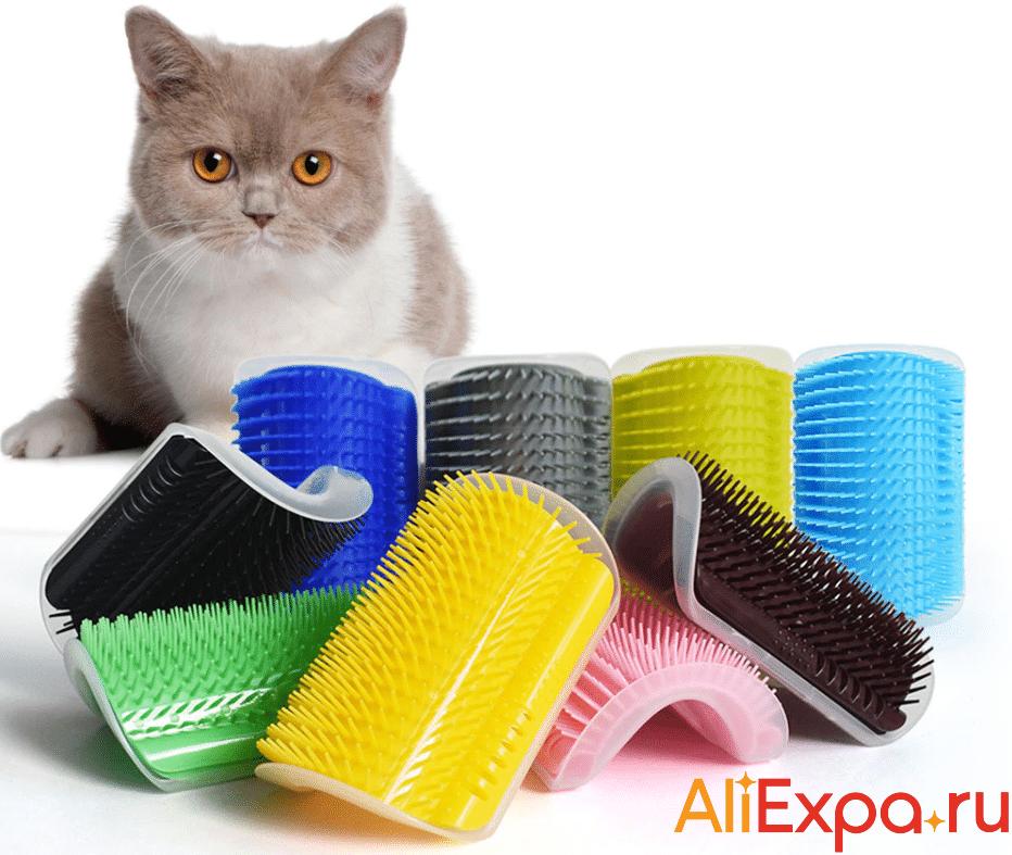 Угловая чесалка для кошек купить на Алиэкспресс