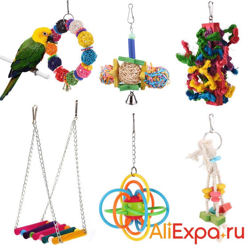 Навесные игрушки в клетку KIMHOME PET купить на Алиэкспресс