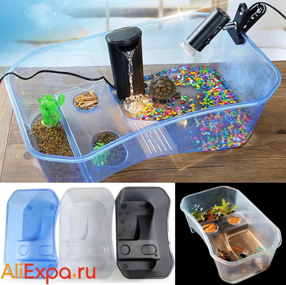 Пластиковый аквариум для черепахи LanLan купить на Алиэкспресс