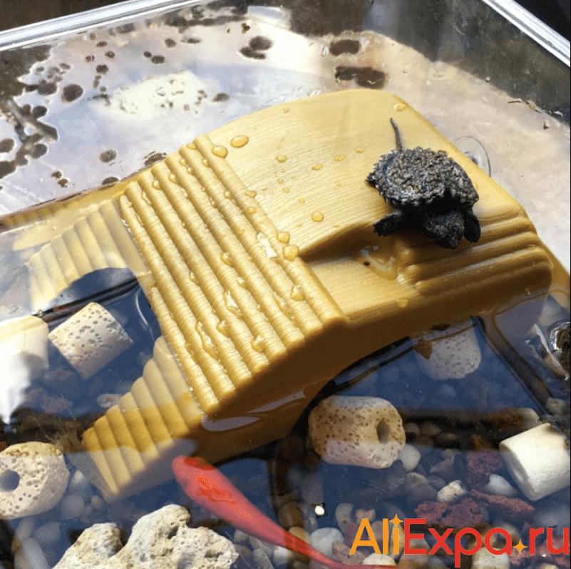 Платформа-лестница для черепахи в аквариуме Let's Pet купить на Алиэкспресс
