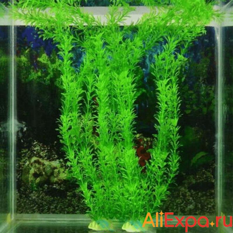Искусственное растение для аквариума купить на Алиэкспресс