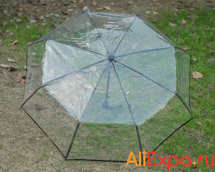 Складной прозрачный зонт MNSN купить на Алиэкспресс