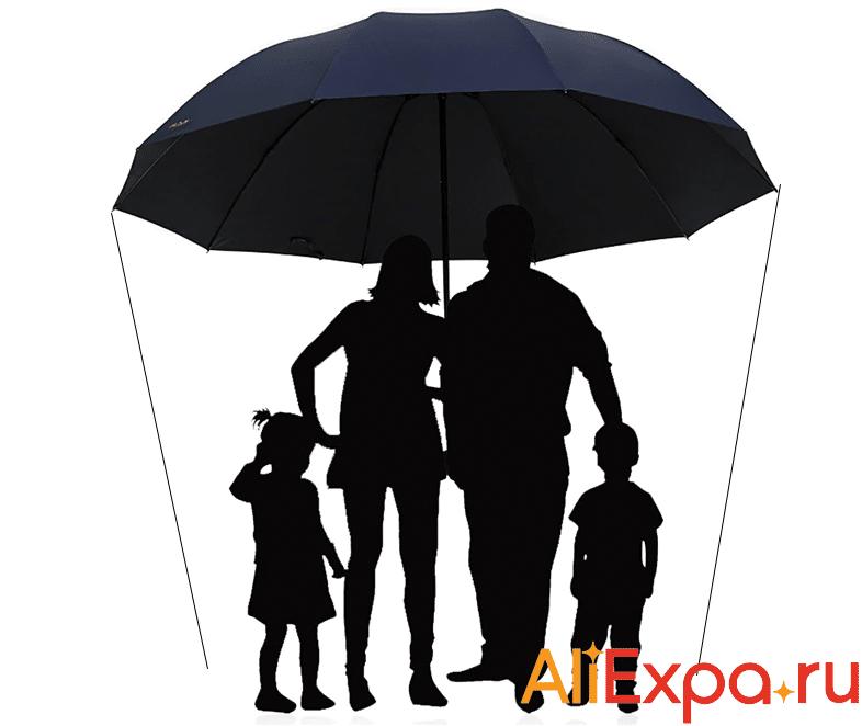 Большой зонт для всей семьи LIKE RAIN купить на Алиэкспресс