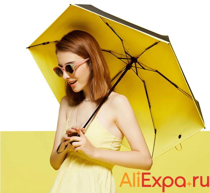 Яркий компактный складной зонт FJUN купить на Алиэкспресс