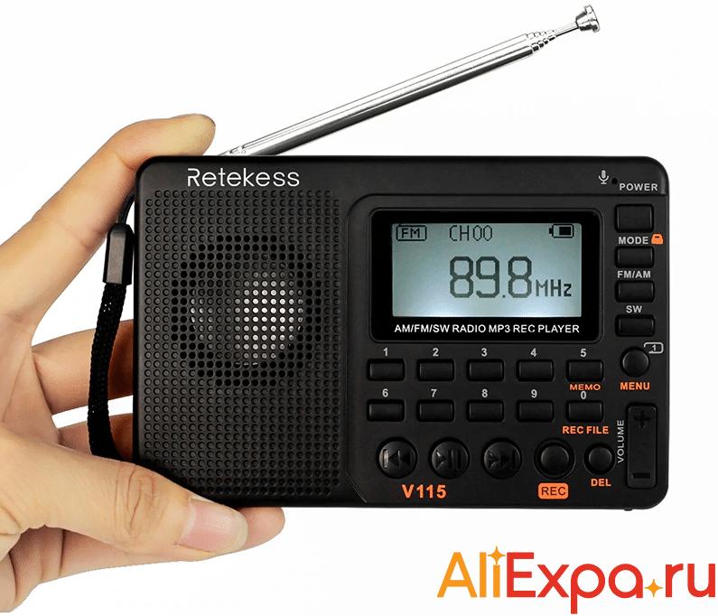 Цифровое радио с микрофоном Retekess купить на Алиэкспресс