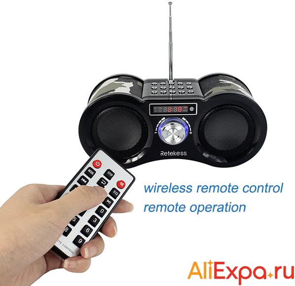 Цифровой радиоприемник с пультом дистанционного управленияRetekess купить на Алиэкспресс