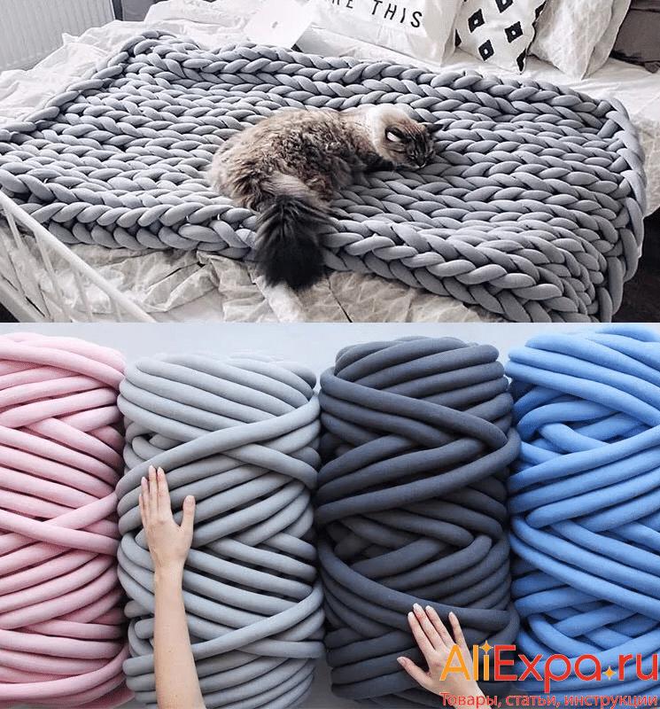 Толстая пряжа для ручного вязания купить на Алиэкспресс