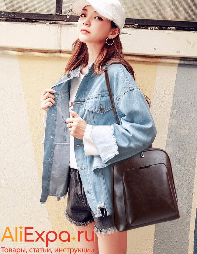Городской кожаный женский рюкзак-сумка Libarrecy купить на Алиэкспресс