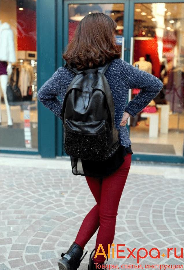 Черный женский рюкзак с паеткамиMAGIC UNION купить на Алиэкспресс
