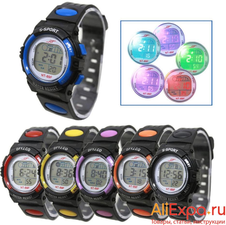 Электронные часы с разноцветной подсветкой Timezone купить на Алиэкспресс