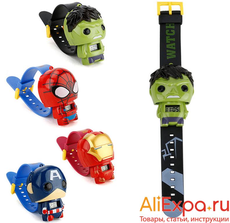 Детские часы с супергероямиONEVAN купить на Алиэкспресс