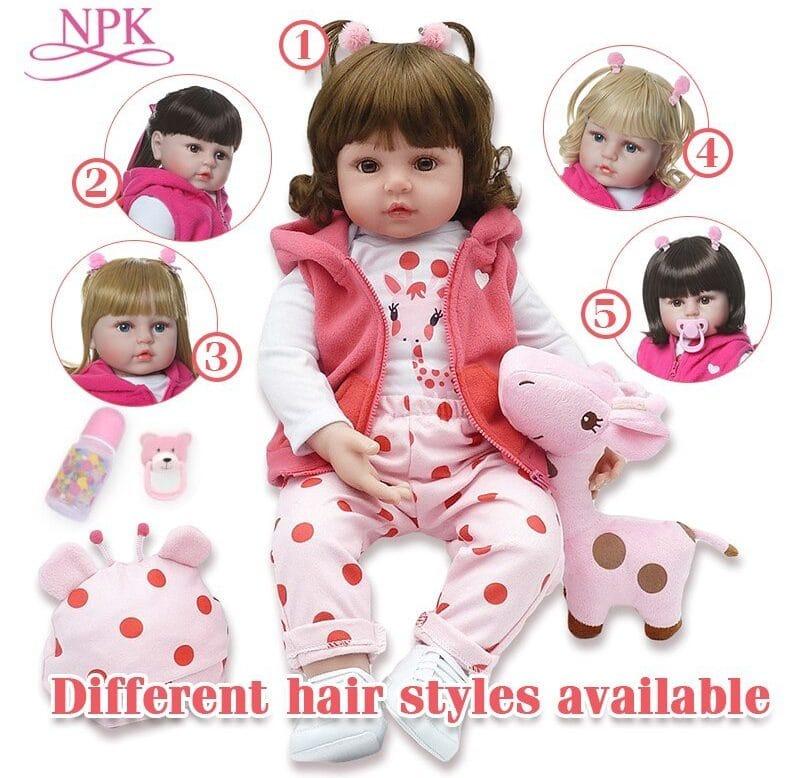 Силиконовая кукла Реборн NPK купить на Алиэкспресс