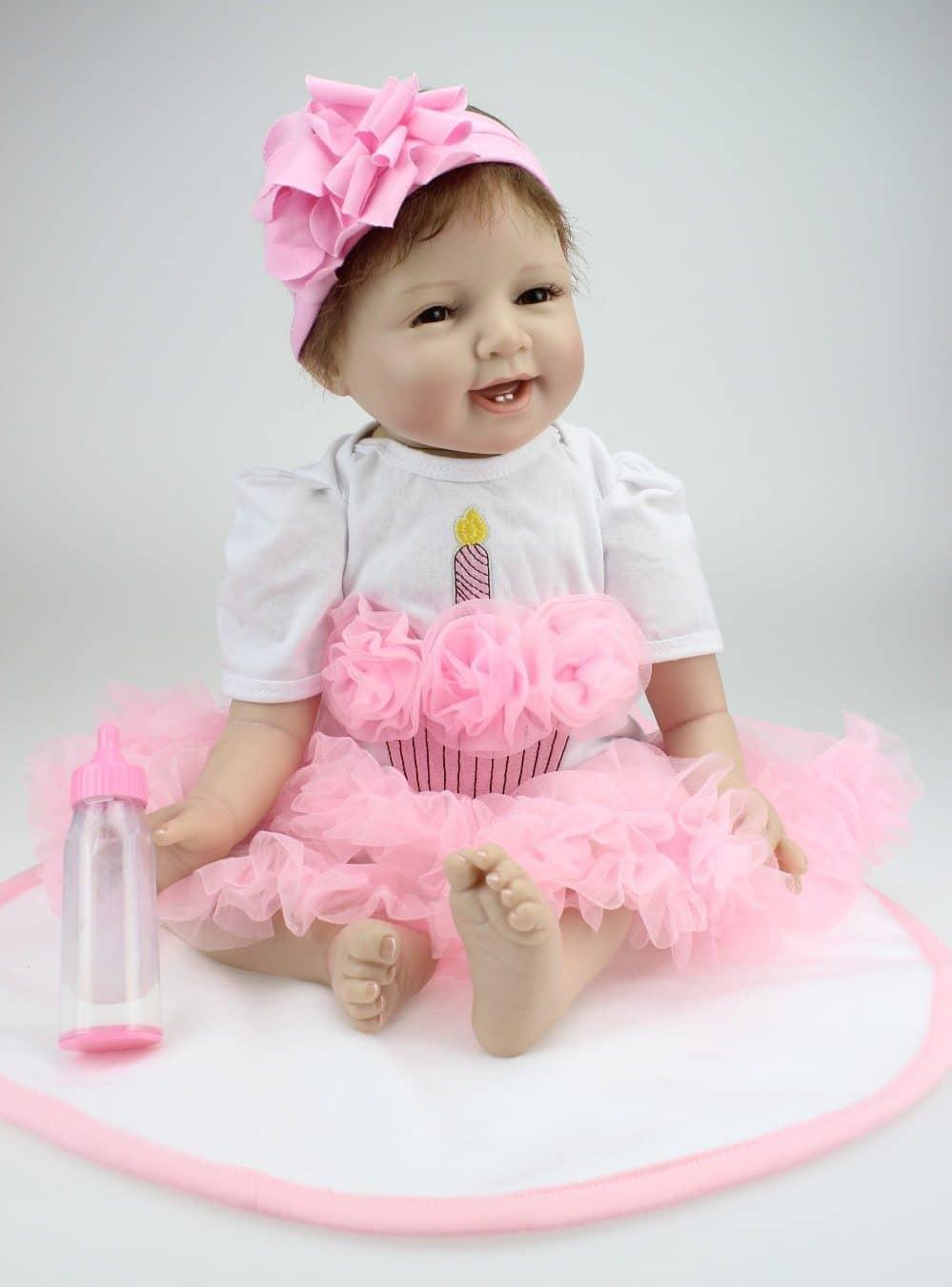 Кукла Реборн: девочка, 1 год купить на Алиэкспресс