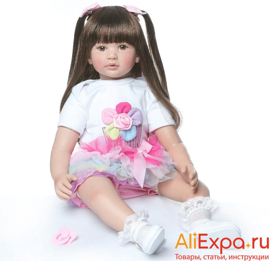 Кукла Реборн с длинными волосамиNPK купить на Алиэкспресс