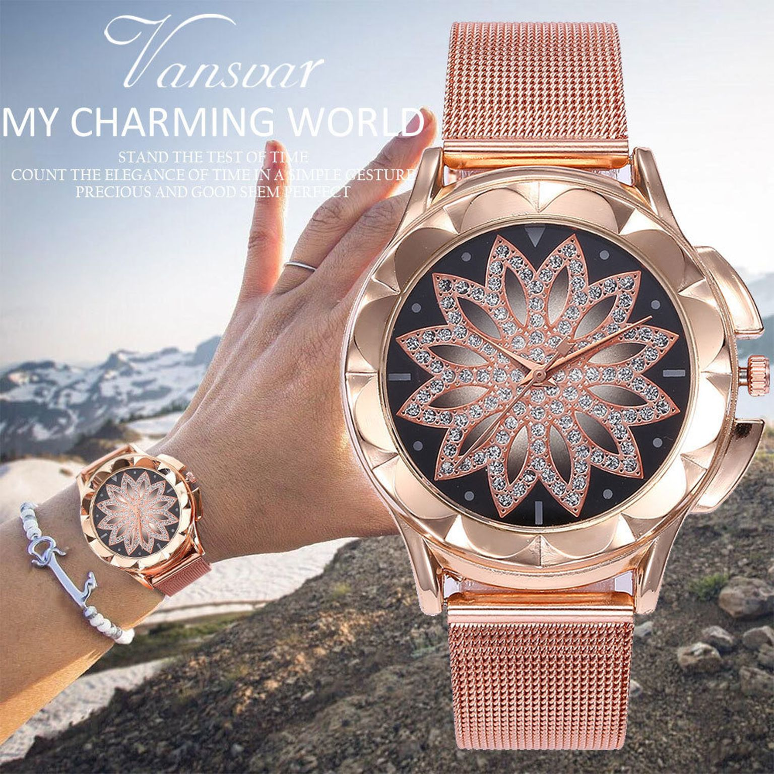 Красивые часына металлическом браслете Relogio Feminino купить на Алиэкспресс