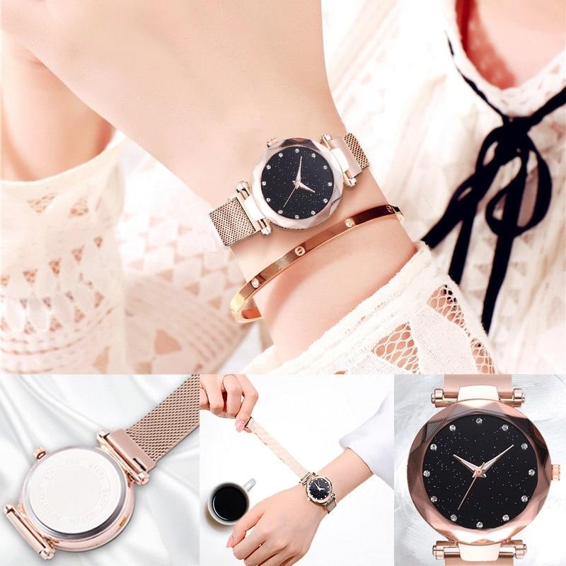 Наручные часы «Звездное небо» от Relogio Feminino купить на Алиэкспресс