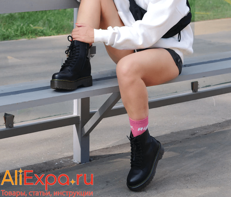 Женские ботинки на высокой платформе купить на Алиэкспресс