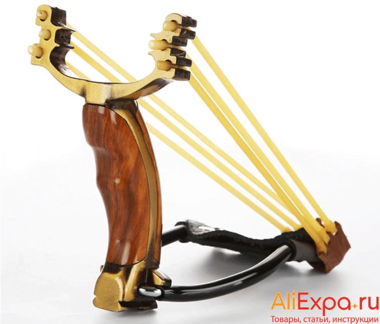 Элегантная рогатка с объемной рукояткой купить на Алиэкспресс