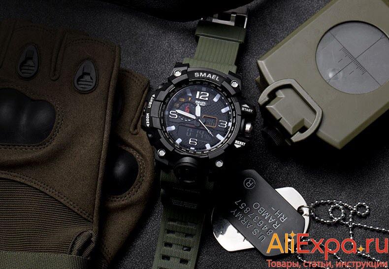 Мужские военные часы в стиле милитари купить на Алиэкспресс