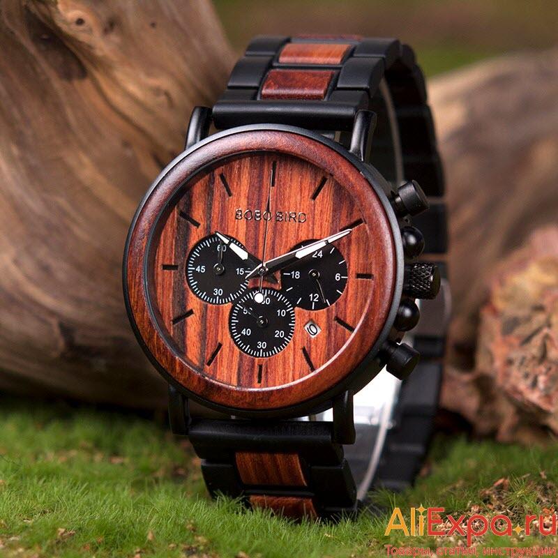 Наручные часы в деревянном корпусе купить на Алиэкспресс