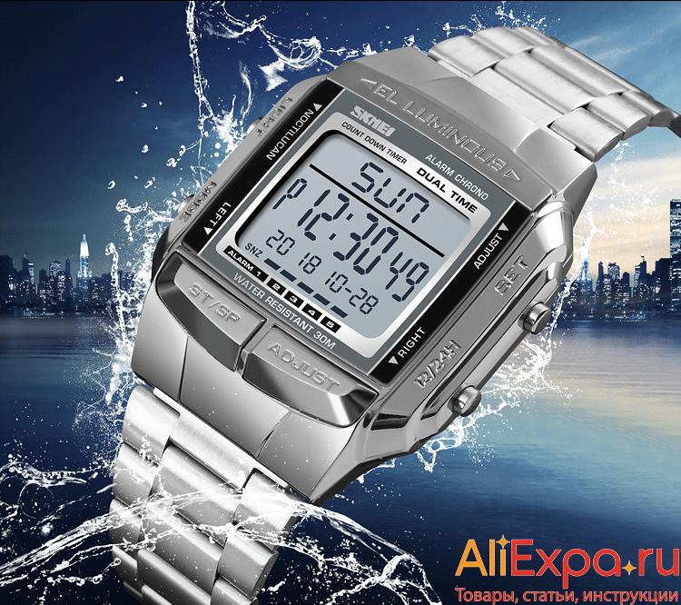 Электронные часы в стиле ретро купить на Алиэкспресс
