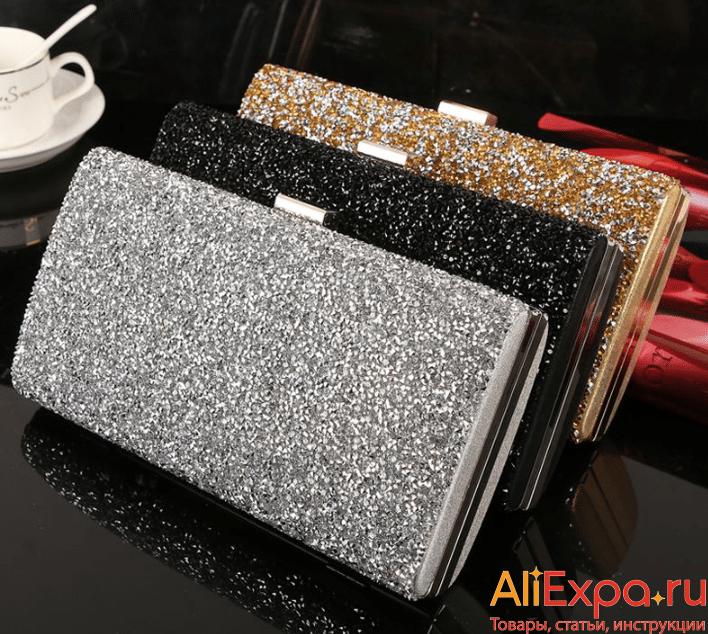 Клатч с блестками — галактическое мерцание купить на Алиэкспресс
