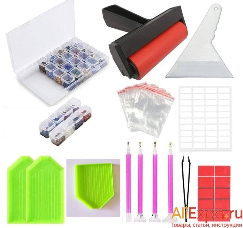 Наборы инструментов и материалов для алмазной мозаики купить на Алиэкспресс