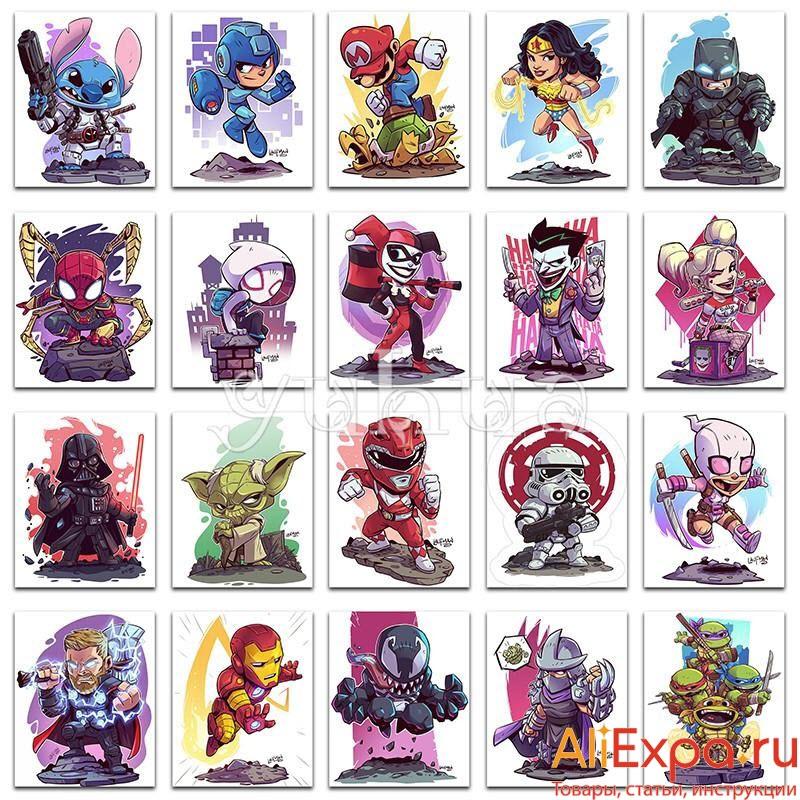 20 мозаик с персонажами фильмов купить на Алиэкспресс