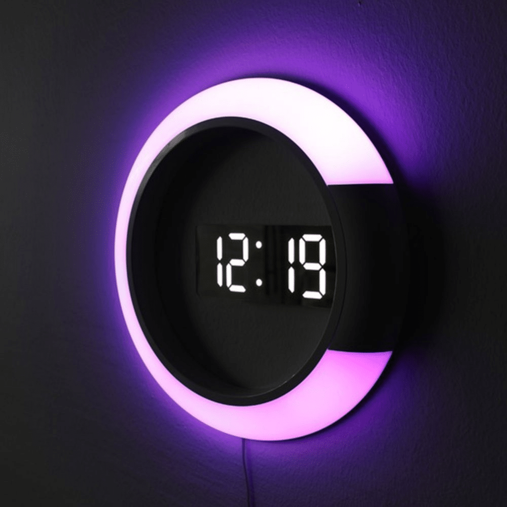 Светящиеся цифровые электронные настенные часы купить на Алиэкспресс