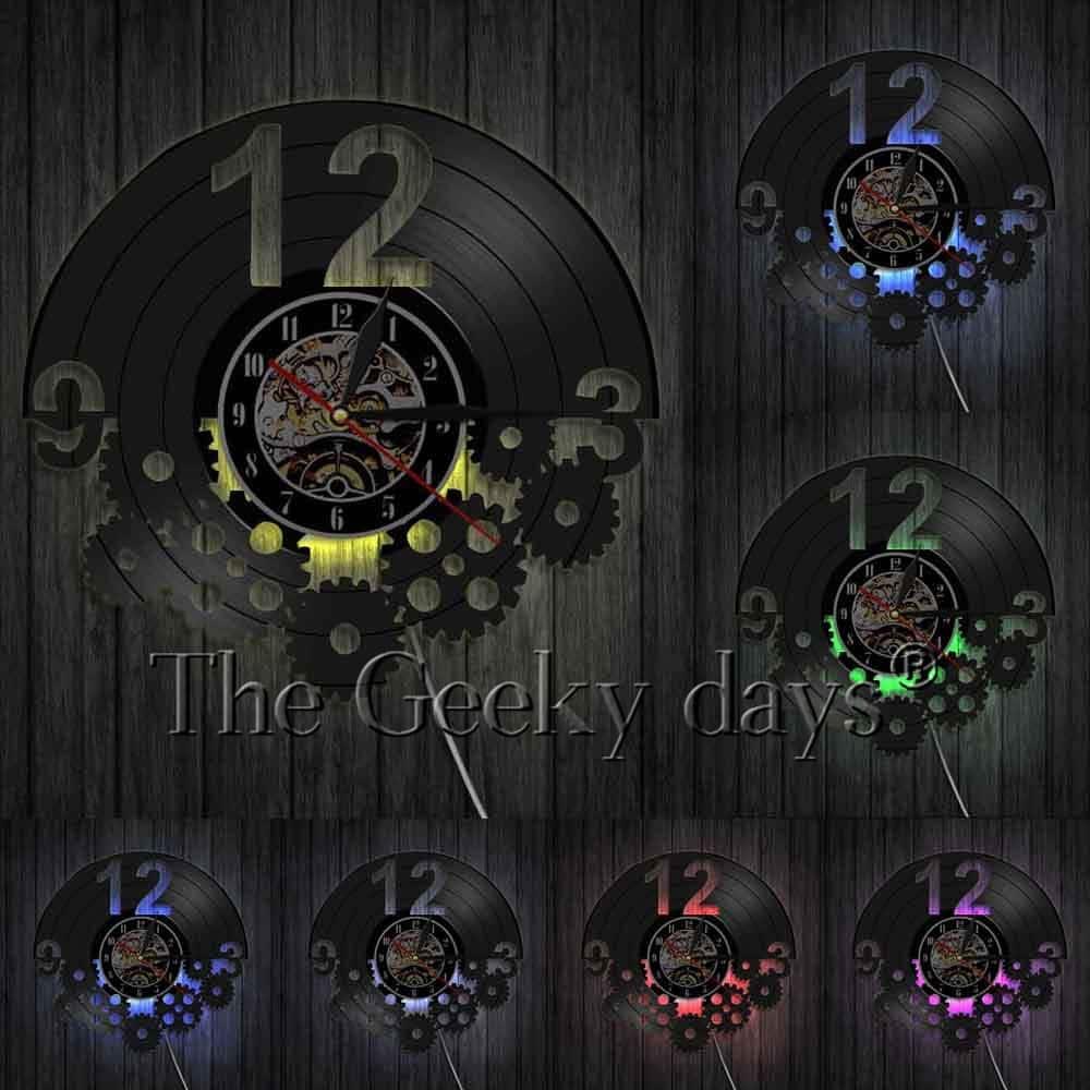 Настенные часы из виниловых пластинок купить на Алиэкспресс