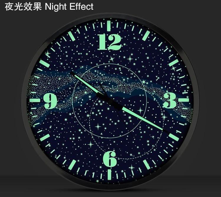 """Настенные часы с подсветкой """"Галактика"""" купить на Алиэкспресс"""