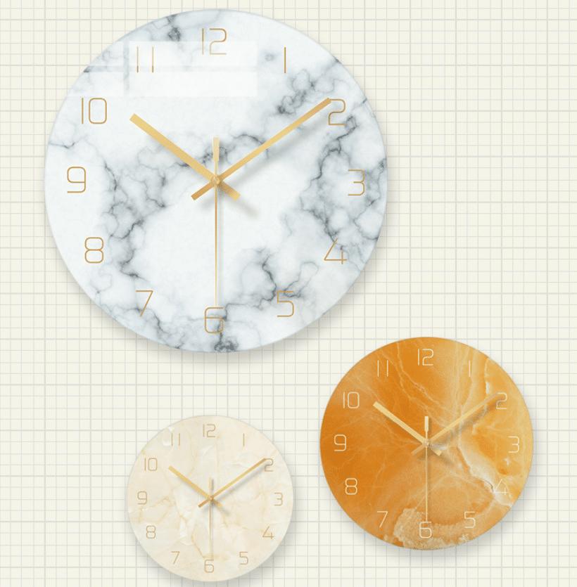 Стеклянные настенные часы с мраморным оформлением купить на Алиэкспресс