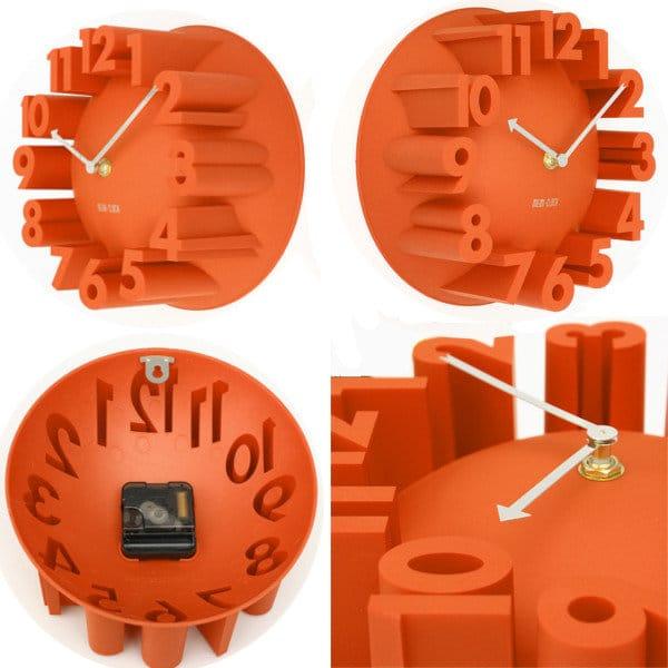 Яркие объемные настенные часы купить на Алиэкспресс