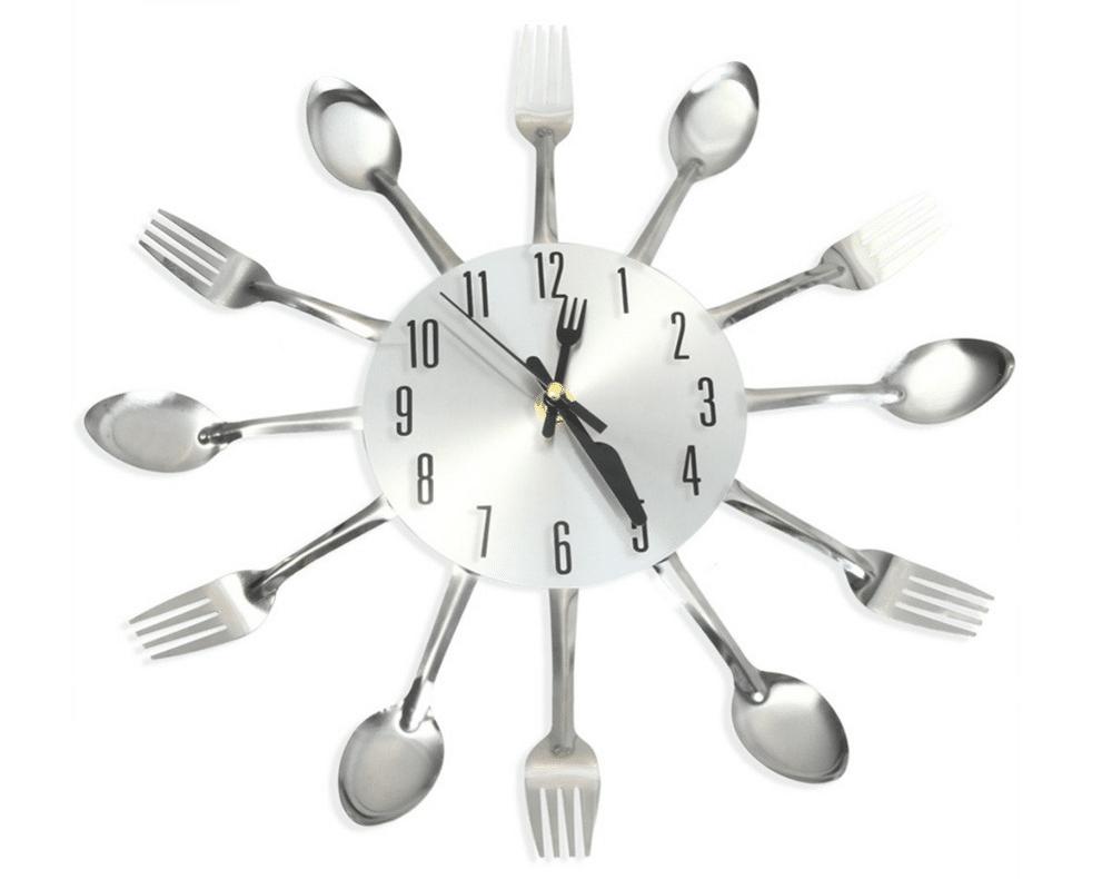 Кухонные настенные часы с вилками и ложками купить на Алиэкспресс