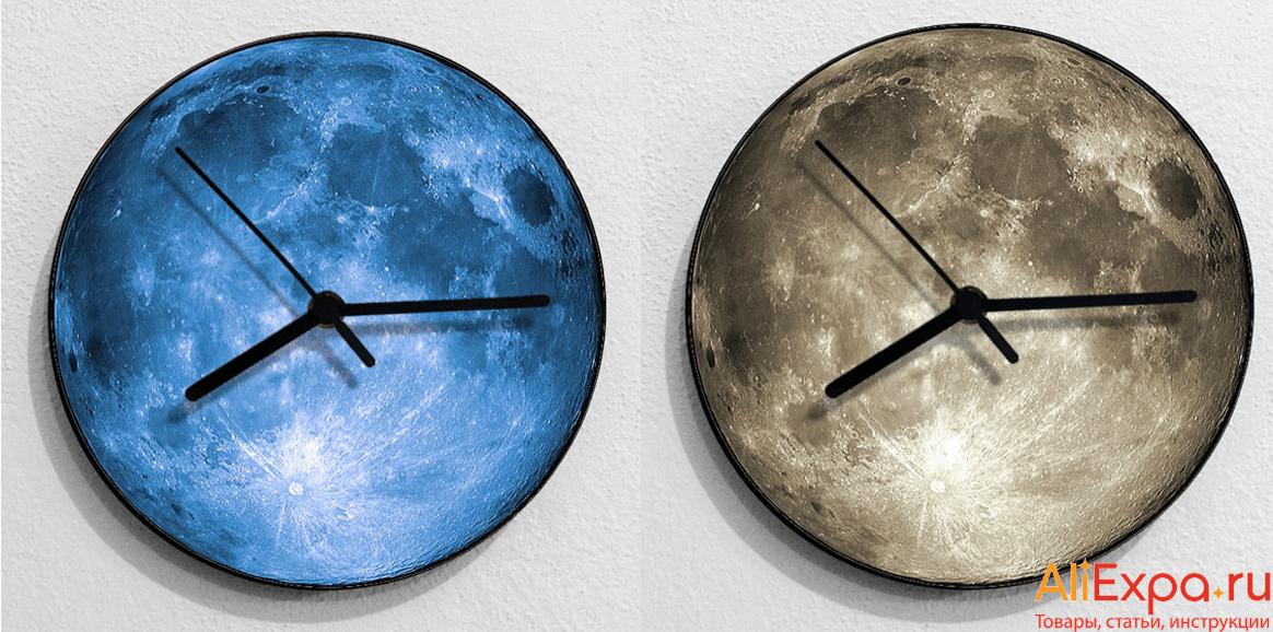 Настенные часы в виде Луны купить на Алиэкспресс