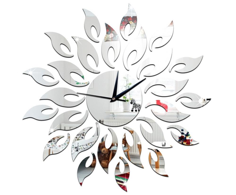 Зеркальные настенные часы в форме Солнца купить на Алиэкспресс
