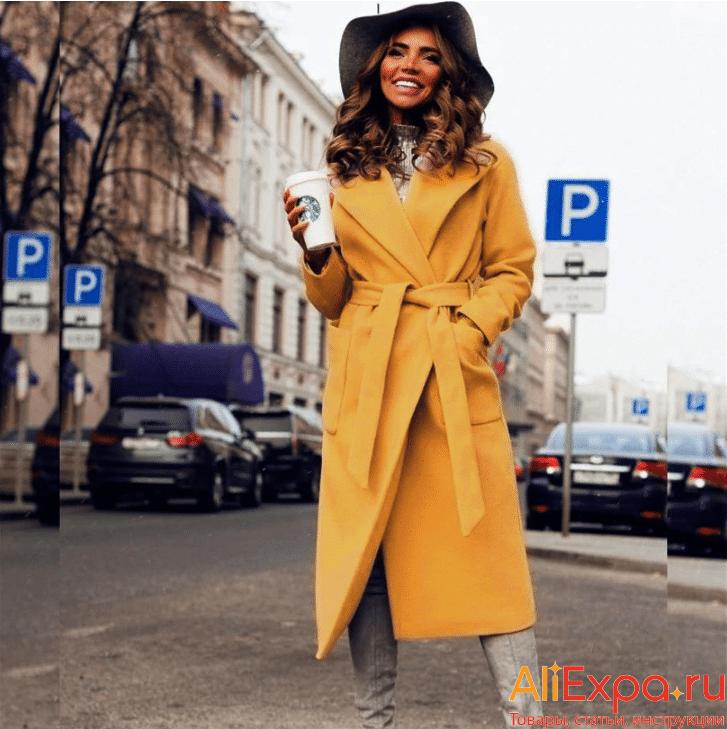 Длинное пальто на поясе от MVGIRLRU купить на Алиэкспресс