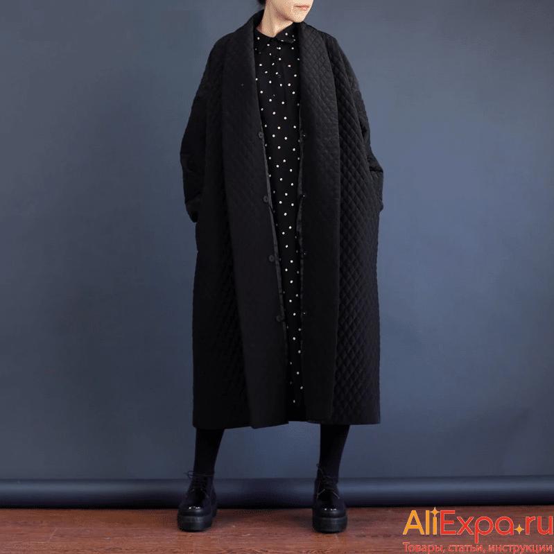 Стеганое демисезонное пальто от LANMREM купить на Алиэкспресс
