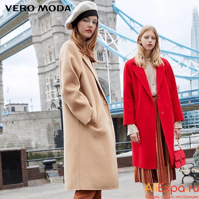 Осеннее шерстяное пальто от Vero Moda купить на Алиэкспресс