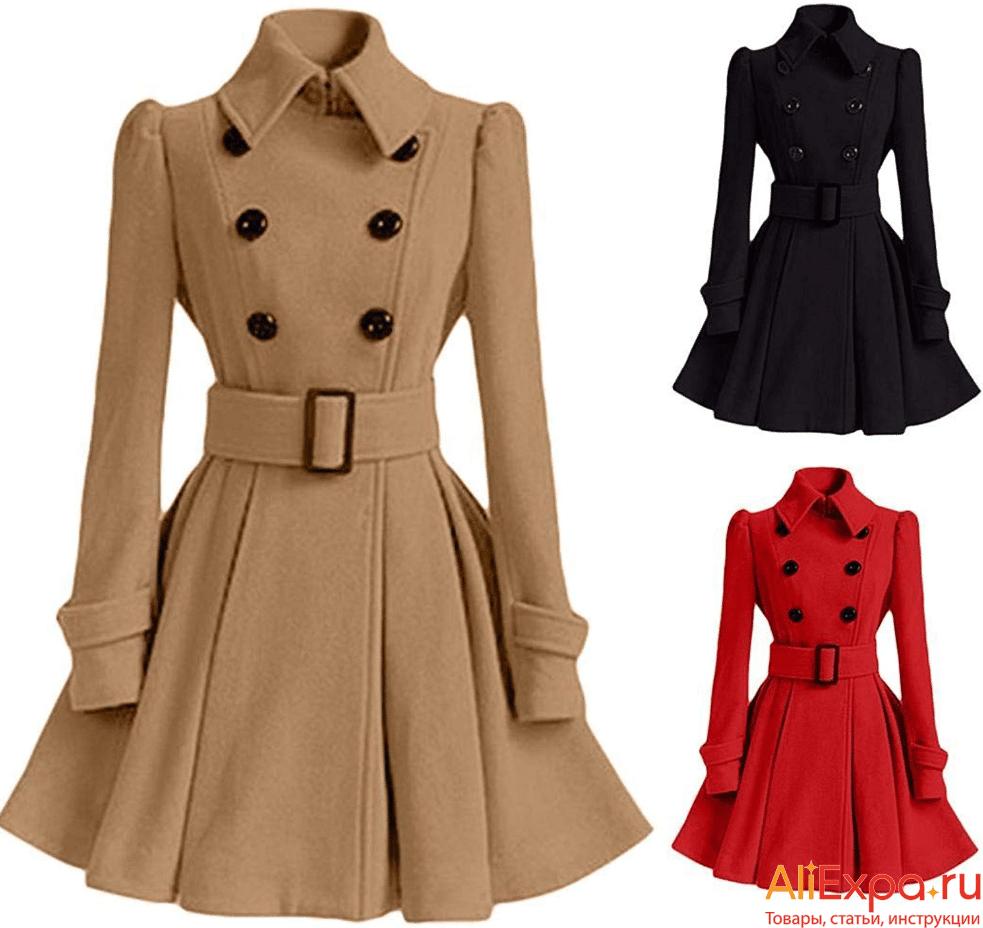 Двубортное винтажное пальто от AOTEMAN купить на Алиэкспресс