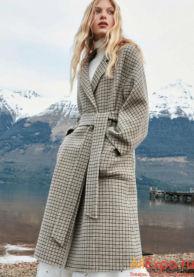 Длинное пальто в клетку от Vero Moda купить на Алиэкспресс