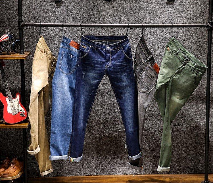 Брутальные мужские джинсы Слим купить на Алиэкспресс