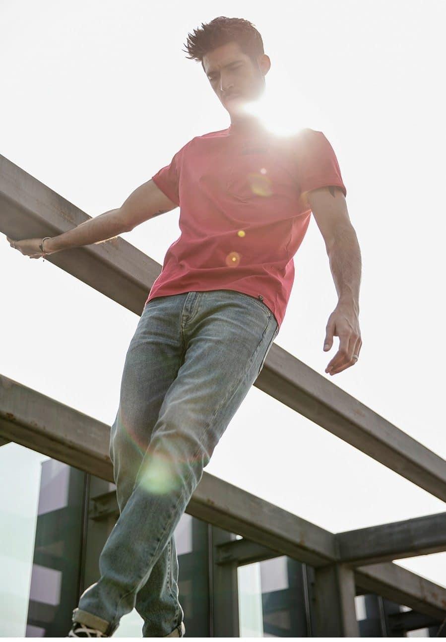 Мужские свободные джинсы купить на Алиэкспресс