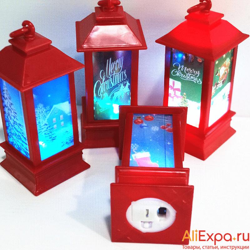 Новогодние светящиеся фонарики купить на Алиэкспресс