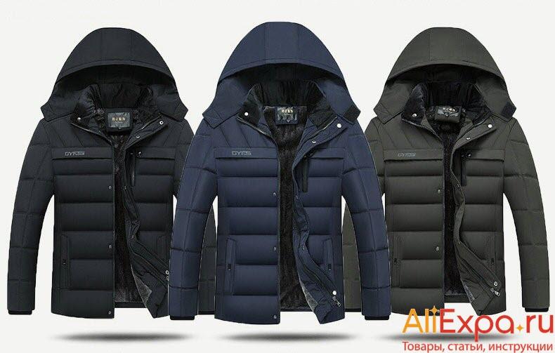 Зимняя мужская куртка на флисе купить на Алиэкспресс