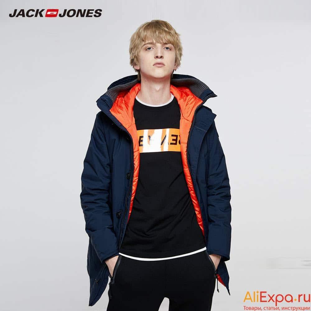 Стильная мужская зимняя куртка купить на Алиэкспресс